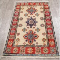 Enjoy the uniqueness of this authentic one-of-a-kind handmade rug. This genuine oriental area rug is hand-knotted by skillful weavers. The hand-knotted rug is the first choice of critics and collectors, as every knot of the rug is honed by a skilled weaver's hands, without any machine's interference. The quality of a hand-knotted oriental carpet is determined by the number of knots per square inch, as some fine weavers can take up to a year to create a single average room size rug. The wool is...