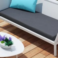 Remarkably comfortable and chic, this bench cushion is fashioned from high-performance outdoor fabric that resists water, staining and fading, making them the perfect addition to your patio, living room, or even your favorite seat. The rounded front of the cushion adds a sleek touch.