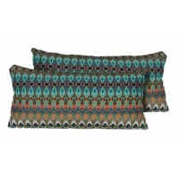 This pillow helps make your outdoor space inviting with the addition of outdoor throw pillows.