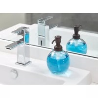 This Glass Pump Soap Dispenser is a modern, stylish and practical accent for your kitchen or bathroom sink with a glass dispenser and a bronze plastic pump head.