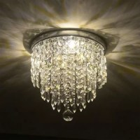 This flush mount beautifully accents any room and home decor. UL listed for safety and superior quality, sturdy steel construction with crystal balls for durability and elegance. It comes equipped with easy installation guidelines and features strings of crystal drops.
