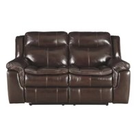 Dunnell Leather Reclining Loveseat