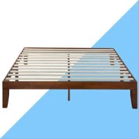 Set a modern and minimalist foundation in your restful retreat with this low-profile platform bed. On-trend and on-budget, this piece is crafted from solid rubberwood with a clean-lined silhouette perfect for an understated contemporary look anywhere. And thanks to its system of slats and center support legs, this piece can prop up your preferred mattress with or without a box spring. A natural brown finish outfits this design for a hint of warmth, while still ensuring it's neutral enough to...