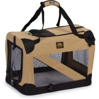 This Zippered 360° Vista View Pet Carrier is generously sized to accommodate your pet in a comfortable way while traveling. This pet carrier has a panoramic zippered sun-view ceiling for ventilation so that your pet does not feel suffocated and is at ease. It is available in multiple sizes and colors allowing you to choose the one best suited to your requirement.  Made using premium quality materials, this pet carrier is sturdy and durable. It has nylon and Sherpa cushion that is...