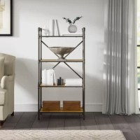 If you are a fan of urban industrial design, this bookcase is the best new add-on for your home. The unique pipe designed frame blends in with the oak panels to create a warm and welcome atmosphere for any home. The multi-tier shelf allows you to display and organize all your favorite books and collectibles.