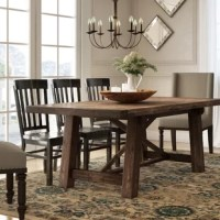 Set a simply stylish and rustic anchor in your dining room with this understated table, featuring an acacia hardwood design and cool, salvaged gray finish. Expecting a few extra guests for dinner tonight? This table features an extendable design that lets you accommodate long guest lists at any occasion. Lay the leaf down to expand your tablescape, then set down crisp white plates and shimmering LED candles to round out your low-key, yet elevated look.