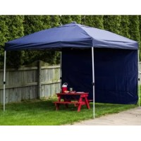 Set yourself apart with this canopy. Not only does this canopy come in a carry bag and sets up in mere minutes, but it also features built-in solar-powered LED lights with a simple switch to power them on or off.