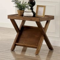 Turn your living room into a contemporary art gallery with this Hermine Cross Legs End Table. This design provides a beautiful combination of style and functionality to complete your living room.