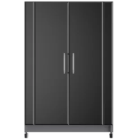 "The perfect choice for tackling your next project, the 37"" H x 24"" W x 18.63"" D Base Cabinet from ClosetMaid offers exceptional features, such as laminated doors, concealed European-style hinges, adjustable feet, and large, brushed-steel handles. Inside the cabinet is one adjustable shelf, giving you plenty of storage space for tools of all sizes."