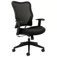 The HON Wave Mesh High-Back Task Chair, with Height-Adjustable Arms, in Black, provides a clean visual design that makes this chair a great investment. This task chair features a two-layer breathable woven mesh back that conforms to the upper body for added support. This computer chair provides exceptional comfort with the addition of sandwich mesh. The chair has adjustable-height arms that move up and down for shoulder and upper body support. Comfort controls such as synchro-tilt, upright tilt...