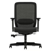 Exposure Mesh High-Back Task Chair, with Height- and Width-Adjustable and Lumbar Support, is aggressively priced and well-appointed for the value-conscious consumer. The computer chair's back is covered in breathable mesh for exceptional comfort and is defined by a curvilinear back with adjustable lumbar support. The task chair has height- and width-adjustable arms that provide fully customizable upper body comfort. The synchro-tilt mechanism reclines the back at a higher ratio than the seat...