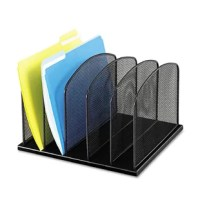 Onyx™ it!  Organize your office with five 2'' wide vertical sections for file folders or binders. Perfect desk storage that is easily accessible.