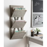 Combine rustic farmhouse home decor with functionality with this hanging wall file holder. This Hanging Wall File Holder has 3 wood baskets opening store your important mail, bills, magazines, or documents. The sides each of the pockets are open, and they are connected to the wall plaque. This functional wall organizer has 2 metal D-ring hangers attached to the wood frame for easy wall display. This functional wall hanging file holder is the perfect tool to bring rustic chic design and...