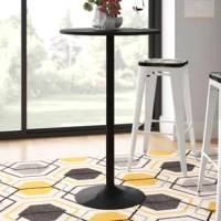 Create a cozy conversation spot in your home or office with this Pub Table. Sleek and stylish all black is great for social gatherings and light dining. It can also be used as a tall accent serving table. Round black top and base.