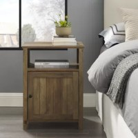Keep life simple with this grooved door side table. An open cubby rests at the top of the unit, which provides a great place to store electronics, small boxes, or other accessories. The bottom of the end table has a door with soft close hinges. Create a coastal, farmhouse, or traditional tone in your living room in a snap!