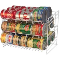 When it comes to organizing your pantry, don't get caught with cans stuck in the back, or rolling around on your floors. Adding a tilted rack like this is a great option for making sure that your favorite canned goods can come right to the fore without all the fuss of dragging them up. Crafted from rust- and stain-resistant steel, this rack features an understated, openwork design and white finish for a clean look in your kitchen or pantry. Measuring just 10.63'' H x 14'' W x 14.7'' D, it's a...