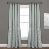 These delightful new window curtains add a lovely texture to your home with chenille woven embellishments on cotton fabric. The contemporary chevron pattern is eye-catching but will not take over the look of the room. These panels are sold by pair.