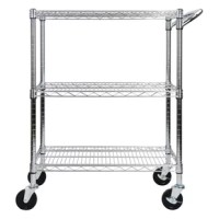 The Heavy Duty All-Purpose Utility Cart is the ideal solution for all your storage needs. Made with heavy-duty chrome-plated steel, the utility cart is perfect for the home, kitchen, warehouse, office, garage, restaurants, and more. The steel wire construction offers sturdiness stability whether it is moving or not. The Oceanstar heavy-duty all-purpose utility cart is not only functional and durable but is an ideal addition to any home or work environment to simplify your storage and...