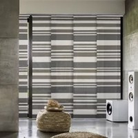 Perfect for french doors, patio door, balcony door, closet door, and any large windows. This is also a smart choice for a room divider, which can keep a room private and stylish. The 4-rail track is adjustable anywhere from 45.8