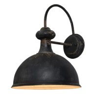 The definition of farmhouse industrial, the wall sconce is simple yet stylish. Its classic aged metal finish allows it to blend well into many different locations.