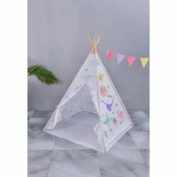 Graffiti teepee tent arrives as a blank canvas with different graphics schemes. The pattern of graffiti schemes includes an Indian tribe; ocean Animal and dinosaurs family, a paintbrush with different colors included (though you may want to pick up extra at the craft store). LED lights are optional with additional purchases.