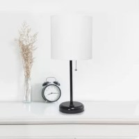 Comes equipped with a 2 prong outlet seated in the base for use to charge mobile phones, handheld games, tablets, and other small electronics. This lamp will add a fabulous flair to any room. Perfect for bedrooms, kids and teens, college dorms, nurseries, or fun offices.