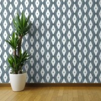 Our smooth wallpaper is a durable paper with a water-activated adhesive backing. It's long lasting but fully removable, making it great for apartments, rentals, and an array of craft and decorating projects. Smooth wallpaper makes adding a one of a kind accent wall or updating a whole room a cinch. We recommend the Smooth Water-Activated Wallpaper for children's rooms and nurseries.  Featured Design: Rustic Diamond Denim Rustic Blue White Diamonds Modern Home Decor Rustic Geo Geometric...