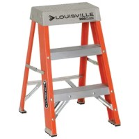 2-ft. extra heavy duty fiberglass stepladder with a 300 lbs capacity. Spreader braces inside fiberglass rails help keep braces from getting hooked or abused during trANSIt. Double-rivet step construction, each step secured with six, large headed, semi-tubular steel rivets for maximum strength. 30% greater shear strength than solid aluminum rivets. Full channel fiberglass rail, nonconductive full channel rails are covered with a polyester veil for years of durable service when prolonged exposure...