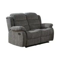 Casual and comfortable, this plush loveseat is a convenient addition to any living space. Chenille fabric to match any traditional décor. Each seat reclines easily with a simple pull on either side's latch.