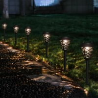 Add accent lighting to your yard while increasing safety in your garden, walkways, and pathways with this pathway light. Constructed of durable stainless steel with a clear plastic ribbed lens, no wiring is necessary.