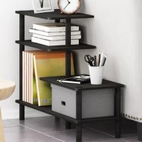 This storage rack comes with a unique structure which has open display rack and shelves that are modern and stylish to fit any room settings when creating your ideal room. It provides ample storage and display space for items and decorations. Keep things in place and organized without worrying as the rack is strong and sturdy. The rack consists of durable MDF boards and strong PVC poles both tested for strength and stability. Assembly is very easy as it requires no tools to assemble this...