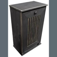 Manual Solid Wood Manual Lift Pull Out Trash Can