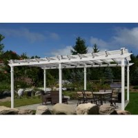 Your outdoor sanctuary awaits!  Crafted from premium vinyl and maintenance free, it's a smart investment as well. An occasional rinse with a garden hose is all you need to keep your Regency 24 Ft. W x 14.5 Ft. D Vinyl Pergola looking great year after year.  New England Arbors manufacture all of their products by molding premium, hi-grade polymers around traditional structural elements to create the classic look of wood without the traditional maintenance. In other words, you get the classic...