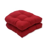 Now get even richer texture and elegant style! We've enhanced Pompeii Red with a new highly textured fabric that is sure to get compliments all season long. Make your seats as comfortable as desired with the Pillow Perfect Wicker Chair Cushion. The cushions are made from 100% polyester and 100% polyester fiber fill that make it soft and sturdy as well. It's padded that provides you with maximum comfort when you rest on it. The seat cushion is fade, UV and weather resistant that makes it...