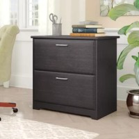 This Lateral File Cabinet is a great option to organize important documents in your home office. When used next to this Corner Desk or L Shaped Desk (sold separately), the 2 drawer File Cabinet serves as an extension to your work surface as they match in height. Featuring two spacious drawers, the Lateral File Cabinet is crafted to hold both letter and legal-size files with ease.