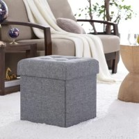 From offering a place to perch your feet while kicking back and relaxing to providing spare seating when entertaining guests, ottomans are a must-have for your living room look. Crafted from a manufactured wood frame, this one features 100% linen upholstery awash in a solid color. The square top showcases button tufted accents, and lifts to reveal hidden storage space inside for toys, blankets, and more. Measures 15'' H x 15'' W x 15'' D.