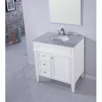 Powder room in need of a pick-me-up? Offer an eye-catching focal point to your bathroom ensemble while increasing storage space with this must-have vanity set. Boasting a solid neutral finish, the base is founded atop four tapered legs and features three drawers and one cabinet for keeping crisp towels, cleaning supplies, and other bathroom essentials. Up top, the stone countertop includes an oval-shaped sink and three holes for accommodating a faucet of your choice.