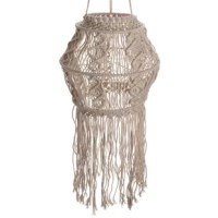 Handcrafted with intricacy and high-level of detail, this Macrame captures beautiful knotting techniques. Made of cotton, the macrame was twisted and braided by hand with care and precision. It is a perfect addition to any home with either modern and contemporary themed interior or Bohemian feel aesthetics. Paired with your favorite plants and succulents, their Macrame home decor pieces will transform your home. They carry vases, mirrors, lamp shades, wall hangings, curtains, shelves all...