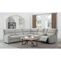 This sectional has it all—clean lines, modern style, dual power-recline seats, a storage console with cup holders, seating for the whole family, and a full-size memory foam sleeper for overnight guests. The contemporary design elevates the style of your home and makes this the perfect place to entertain or just lie back and relax.
