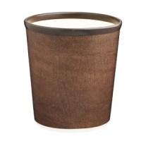 This 10qt round wastebasket has plenty of capacity and stylish design.