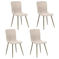Bring mid-century modern style to your dining room or kitchen nook with this upholstered dining chair! It showcases a shell seat and back design with a scoop-back shape for a streamlined silhouette. Down below, four tapered dowel legs provide support. Plus, this chair arrives in a set of four and is easy to assemble. Add it to a dining table of your choice, use it as a side chair for extra party seating, or pull it up to a writing desk. Whatever you want, it could fill your choice. that creates...