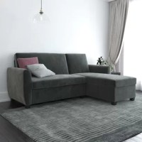 This sleeper sectional is perfect for small spaces, and showcases the versatility that today