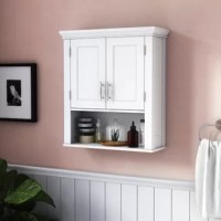 Searching for extra storage in your spa-worthy space? Whether you need a spot to stack hand towels or just have some travel-size toiletries that needed to be tucked away, this cabinet is the perfect pick. Featuring a wall-mounted design that takes advantage of empty space, unlike your other cabinets and drawers, it's equal parts convenient and elegant. Crafted of manufactured wood, it features clean lines and molding with a solid finish, so it works wonderfully in both classic and contemporary...