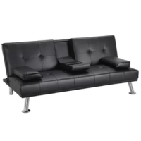 This convertible sofa is made of high-quality material, sturdy and durable and ensures a long life span. The legs are made of premium iron, and the sofa bed is tested before sales for safety, stability, durability, and comfort. This product can be turned into a bed in seconds, which can save a lot of space when you are not sleeping. This convertible sofa is covered which looks great and is very easy to clean.