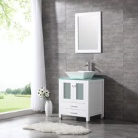 This vanity has large storage capacity and high-cost performance. The black finish is the top color choice for many bathroom renovations. This set ready to install and you can get it done easily following the installation instruction. It comes with vanity cabinet, ceramic sink, mirror, pop-up drain, P-trap, and some installation hardware. It's the luxury design will surely brighten your bathroom and add value to your property.