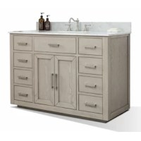 This vanity features modern contemporary styling with ample storage in mind. No matter where you live this vanity will be also a welcomed addition to your current decorating style.