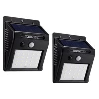 The IP65 waterproof rating makes this solar light an excellent choice for outdoor applications like the porch, garage, patio, garden, and driveway. The 20 high quality LED chips to deliver an outstanding lighting effect. The included replaceable and rechargeable 1200mAh lithium battery gives this solar-powered security light long-lasting power supply.