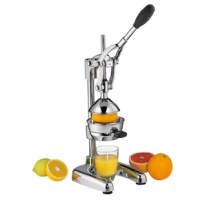 Commercial grade press makes juicing oranges, grapefruits, limes and lemons fast and easy