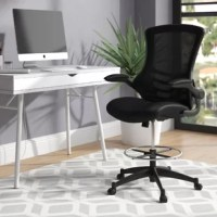 Whether you work from home all day, need a place to retreat on the weekends, or are working on your side hustle, the right office chair keeps you comfortable while you're concentrating. Take this one, for example, it features a reclining open mesh high-back support, with a five-spoke caster base for easy mobility, swivel capabilities, padded armrests, and adjustable seat height, all of which add up to equal more hours in your workspace. It is crafted from a metal frame with mesh upholstery, and...