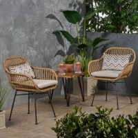 Stretch out in the summer sun or relax in front of a gorgeous sunset on a warm evening with the help of this beautiful chair. Featuring a delightful hand-wrapped look, this chair provides a timeless style to your home while providing ultimate comfort. Consisting of a steel frame and polyurethane material, this charming piece is made to last with its weather-resistant construction and durable structure. Sure to become your favorite spot to relax, this chair will last you for years to come.